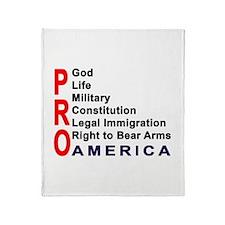 Pro America Throw Blanket