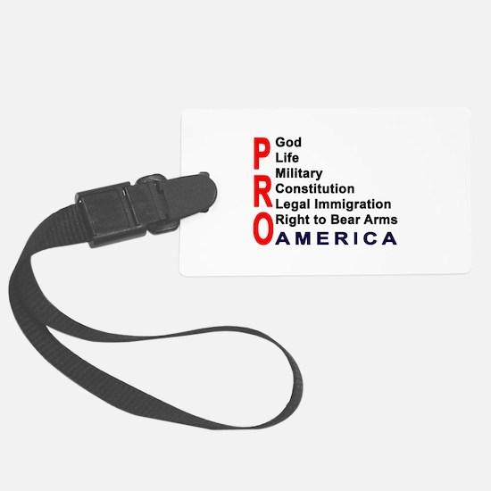 Pro America Luggage Tag