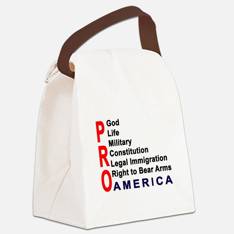Pro America Canvas Lunch Bag