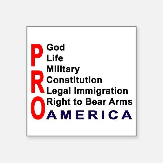 """Pro America Square Sticker 3"""" x 3"""""""