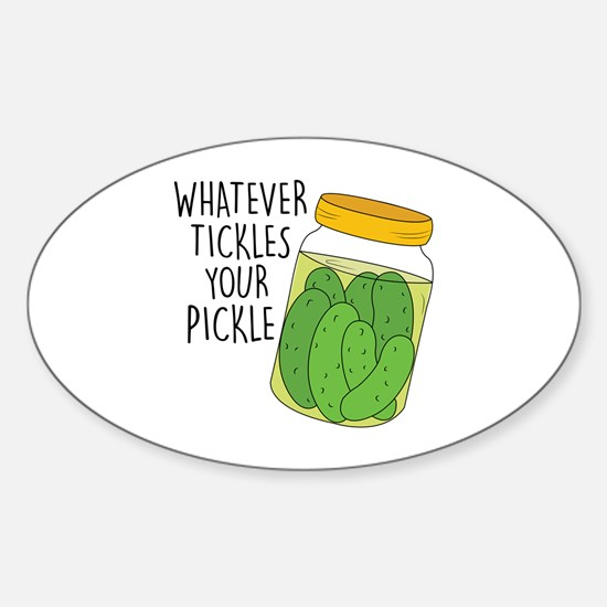 Tickles Your Pickle Decal