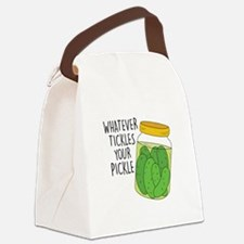 Tickles Your Pickle Canvas Lunch Bag