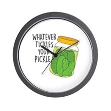 Tickles Your Pickle Wall Clock