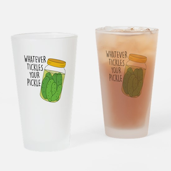 Tickles Your Pickle Drinking Glass