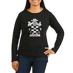 Pavia Family Crest Women's Long Sleeve Dark T-Shir