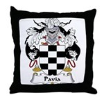 Pavia Family Crest Throw Pillow