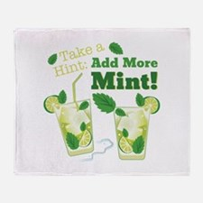 Add More Mint! Throw Blanket