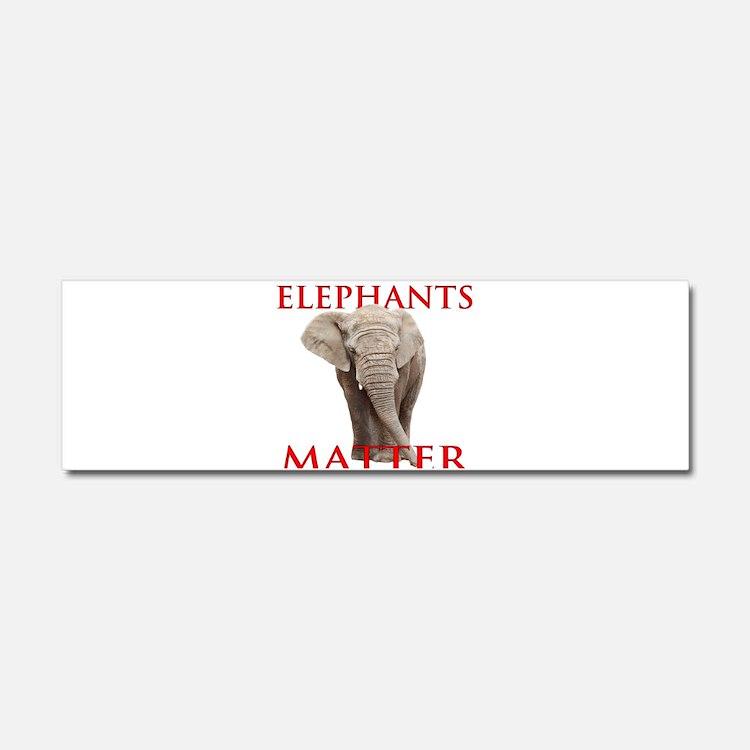 Elephants Matter Car Magnet 10 x 3