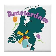 Amsterdam Tile Coaster