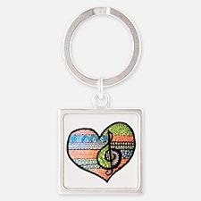 Original Music Heart Treble Clef Art Keychains