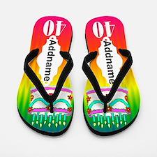 Festive 40th Flip Flops