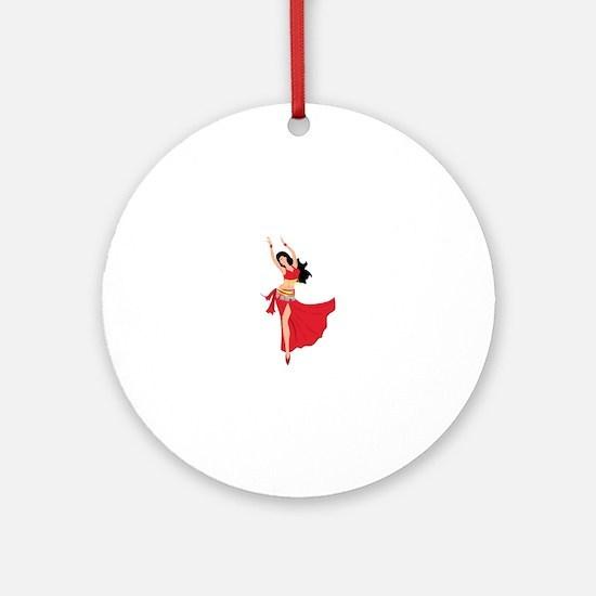Belly Dancer Ornament (Round)