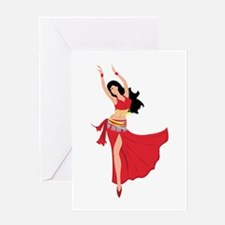 Belly Dancer Greeting Cards