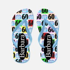 60th Birthday Cake Flip Flops