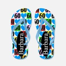 60th Blue Love Flip Flops