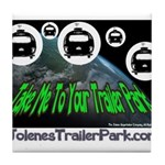 Alien Take Me To Your Trailer Tile Coaster