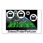 Alien Take Me To Your Trailer Sticker (Rectangular