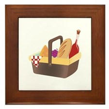 Picnic Basket Framed Tile