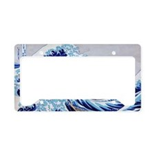 The great wave off shore of K License Plate Holder