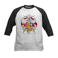 Pau Family Crest Kids Baseball Jersey