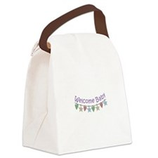 WELCOME BABY GARLAND Canvas Lunch Bag