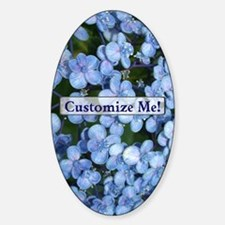 Springtime Hydrangea Flowers to Cus Sticker (Oval)