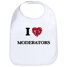I Love Moderators Bib