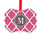 Monogram Picture Frame Ornaments