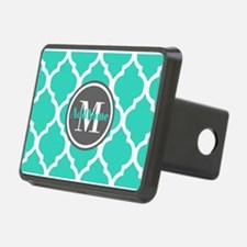 Teal Gray Quatrefoil Patte Hitch Cover