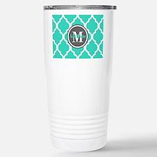 Teal Gray Quatrefoil Pa Travel Mug