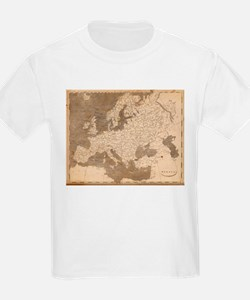 Vintage Map of Europe (1804) T-Shirt