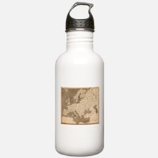 Vintage Map of Europe Water Bottle