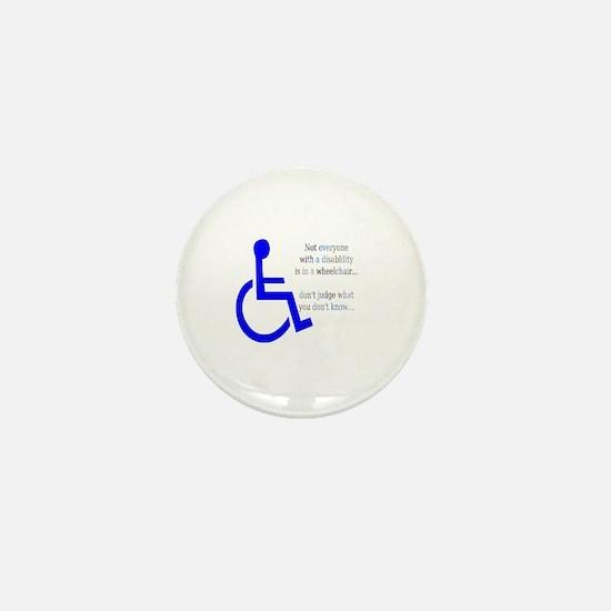 Disability Message Mini Button