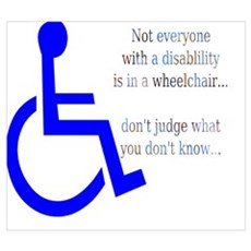 Disability Message Framed Print