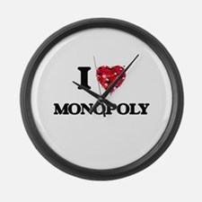 I Love Monopoly Large Wall Clock