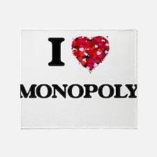 I Love Monopoly Throw Blanket