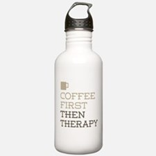 Coffee Then Therapy Water Bottle