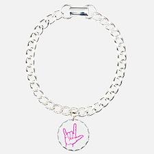 Fuchsia I Love You Bracelet