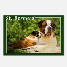 St Bernard-3 Postcards (Package of 8)