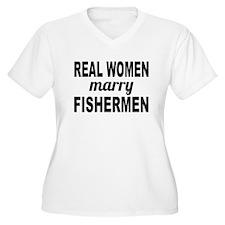 Real Women Marry Fishermen Plus Size T-Shirt