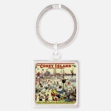 The Barnum and Bailey Greatest Sho Square Keychain