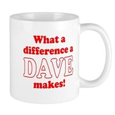 What a difference a Dave makes Small Mug
