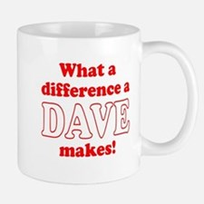 What a difference a Dave makes Small Small Mug