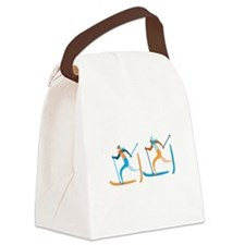 Snow Ski Canvas Lunch Bag