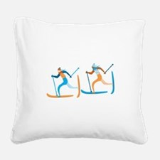 Snow Ski Square Canvas Pillow