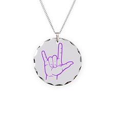 Purple I Love You Necklace