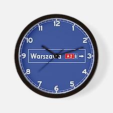 Warsaw Roadmarker (PL) Wall Clock
