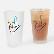 Rainbow Burst I Love You Drinking Glass