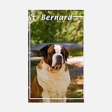 St Bernard-4 Rectangle Decal