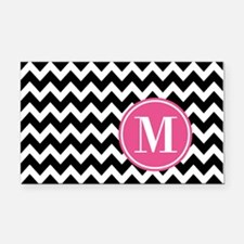Black White Chevron Bright Pi Rectangle Car Magnet